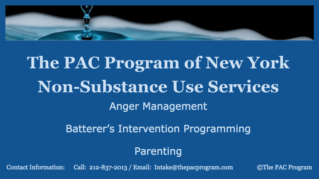 Outpatient substance use treatment Group Therapy in New York City at The PAC Program