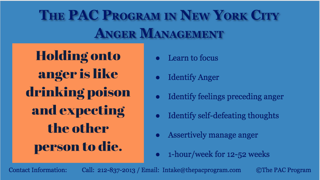 Anger Management The PAC Program of New York CITY