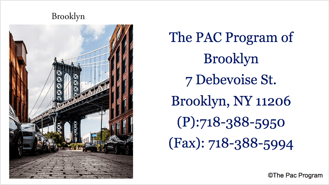 The Pac Program outpatient treatment of Brooklyn NYC