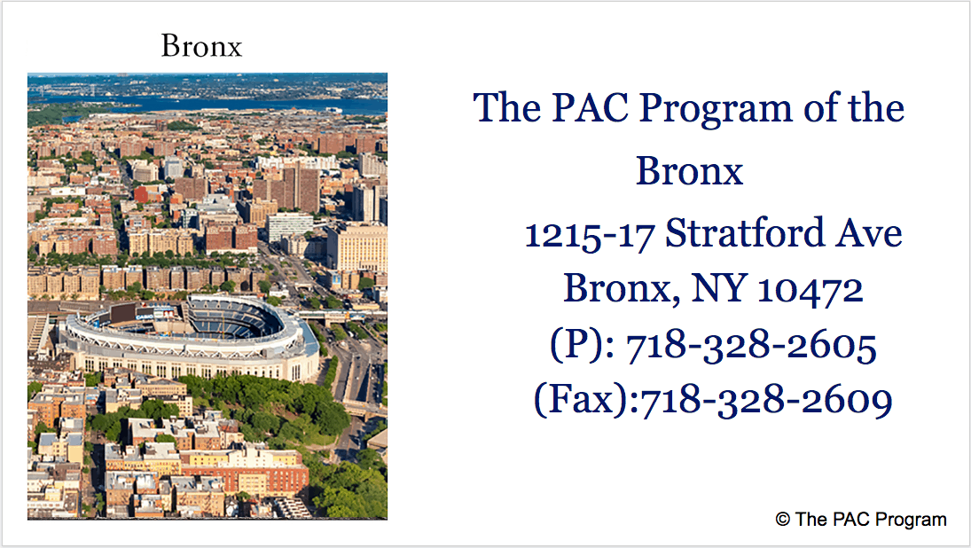 The Pac Program outpatient treatment of Bronx NYC
