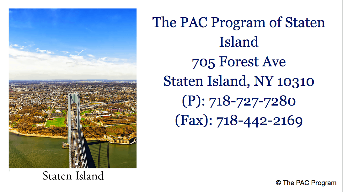 The Pac Program outpatient treatment of Staten Island NYC